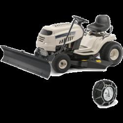 MTD DL 96 T fűnyíró traktor hótolólappal és hólánccal