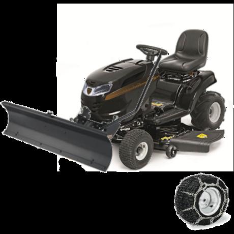 MTD Black Edition 282-117 TWIN KH fűnyíró traktor hótolóval
