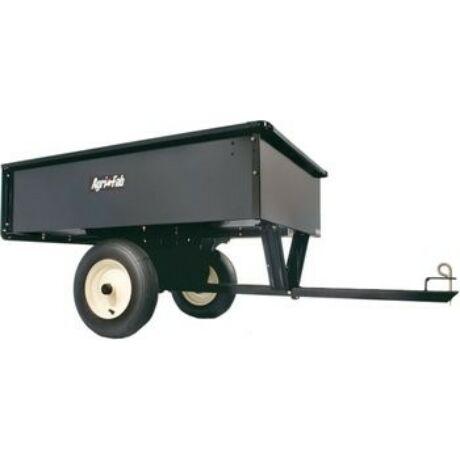 Kerti utánfutó fűnyíró traktorhoz billenthető